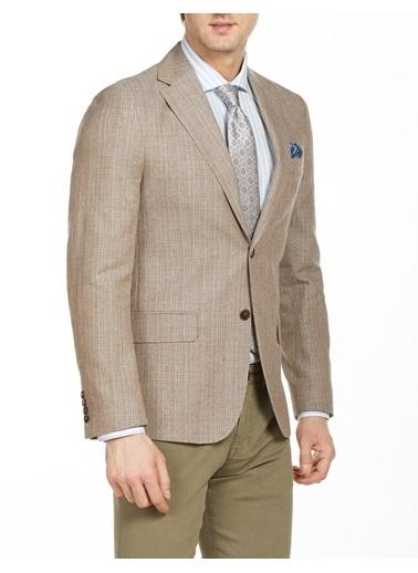 Bisse PCK20Y20124 Regular Fit 4 Drop Platinum Blazer Ceket Bej
